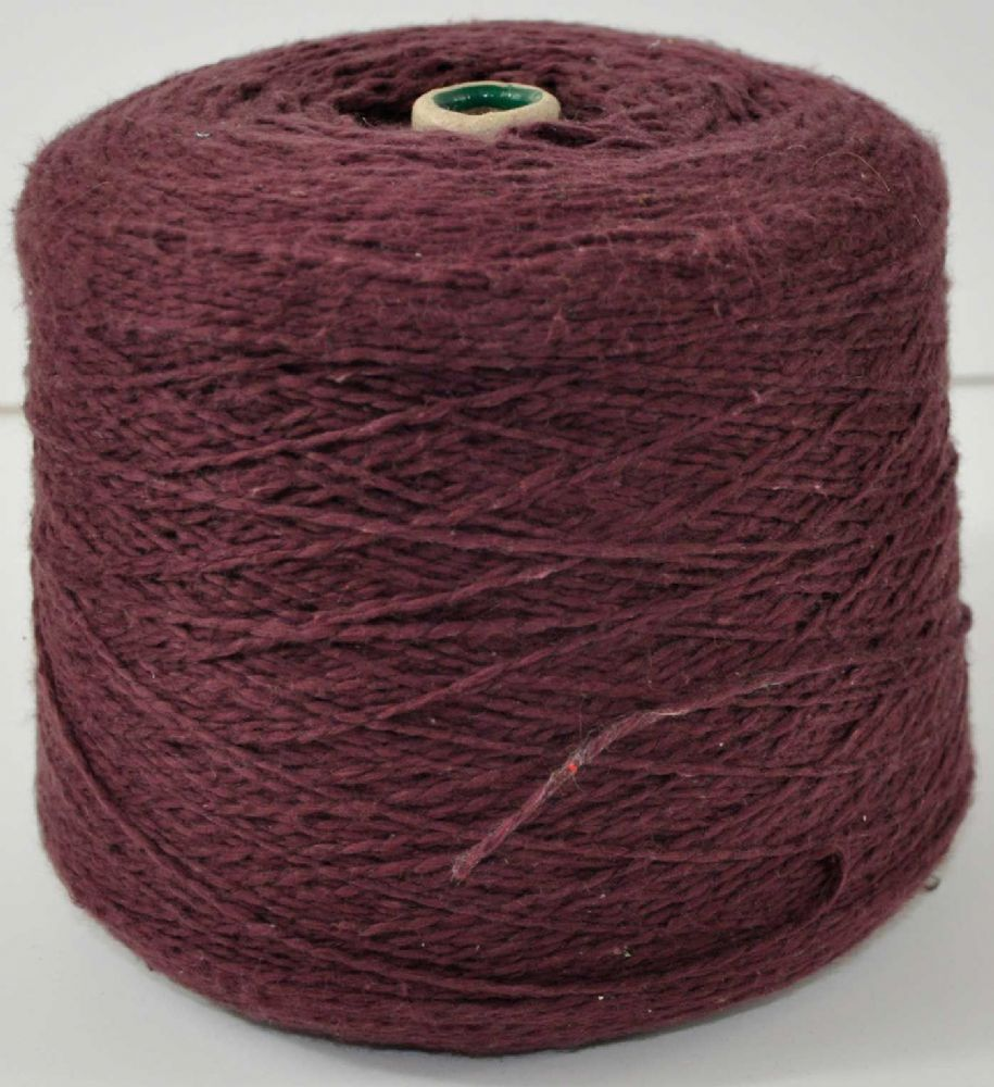 1600g double knit Plum linen and cotton mix